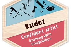Badges: Confident Artist: Growing With Imagination